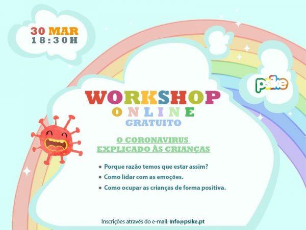 """Workshop """"O Corona Virus explicado às crianças"""""""